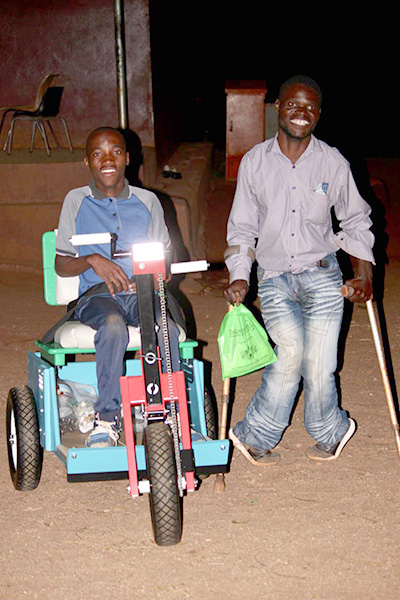 Two Disabled Neighbors Move Faster, Farther